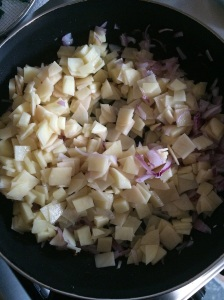 Add potato.