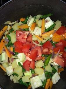 Add tomato.