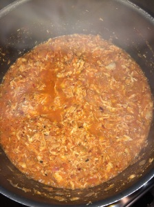 Bolognese Chicken Sauce is done.