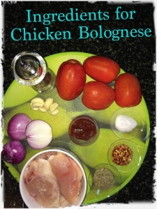 Take your Ingredients for Chicken Bolognese Sauce.