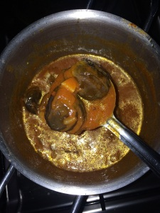 All cooked and look at the glaze of the gravy. Its ready to be served with rice or idly or idyappam.