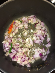 Add onion. Saute until translucent.