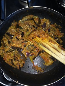 After a min. switch off the flame and serve it with rice.