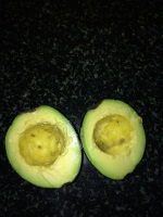 Here is the avocado.