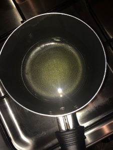 Heat little ghee in a small pan.