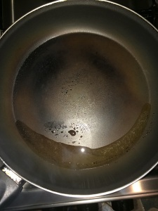 Take oil in a pan.