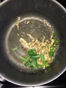 Add a spring of curry leaves.