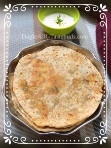 Aloo Paratha is ready to be served. Serve them hot with plain yogurt or pickle.