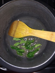Add curry leaves.