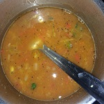 Add enough water, check the taste & allow it to come ot a boil.