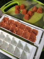 Freeze the remaining sauce in ice trays or in any molds or even in a mini muffin pan.