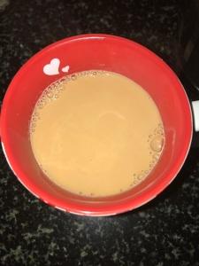 Rosemary tea is ready.